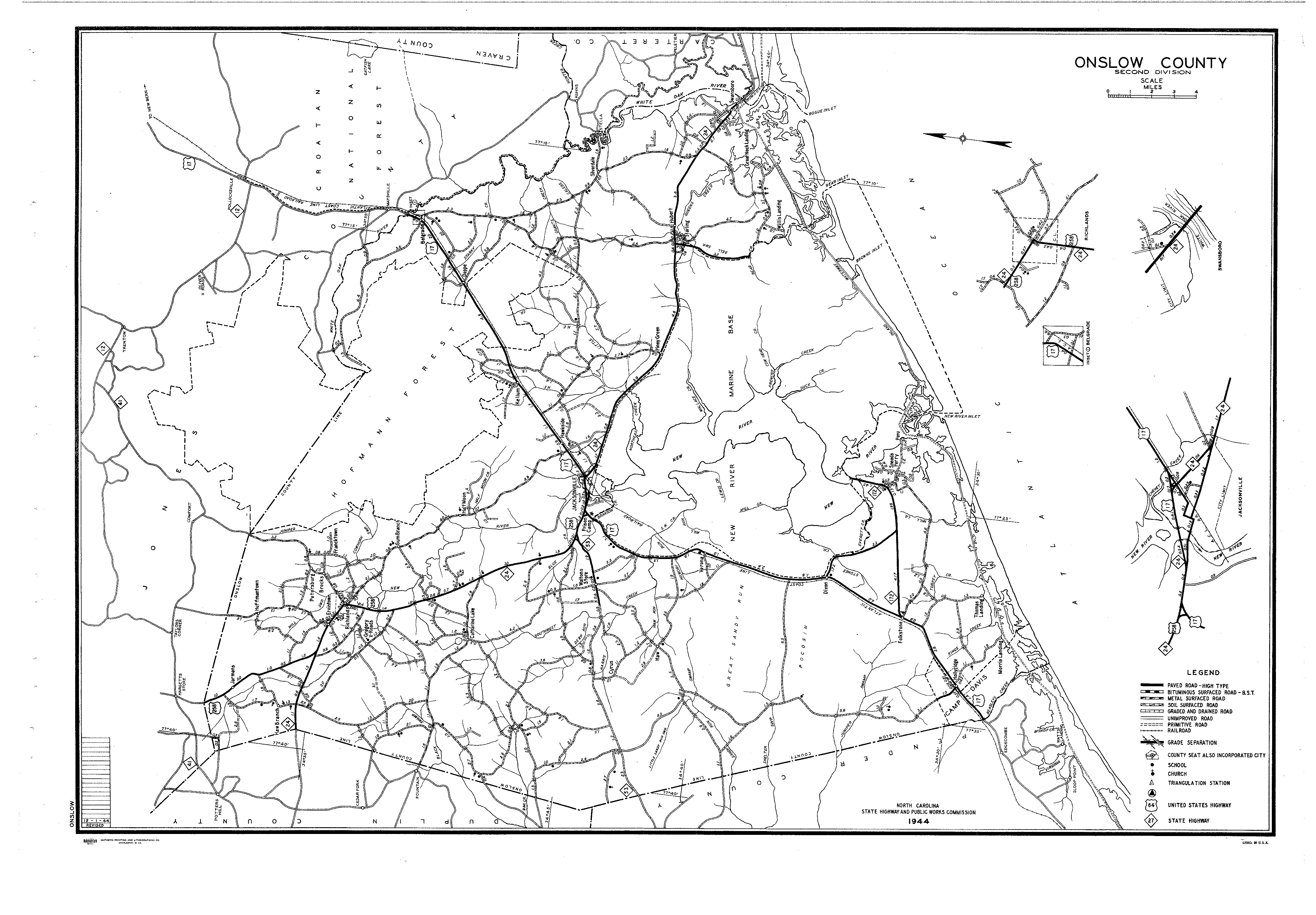 Onslow County Maps - County maps