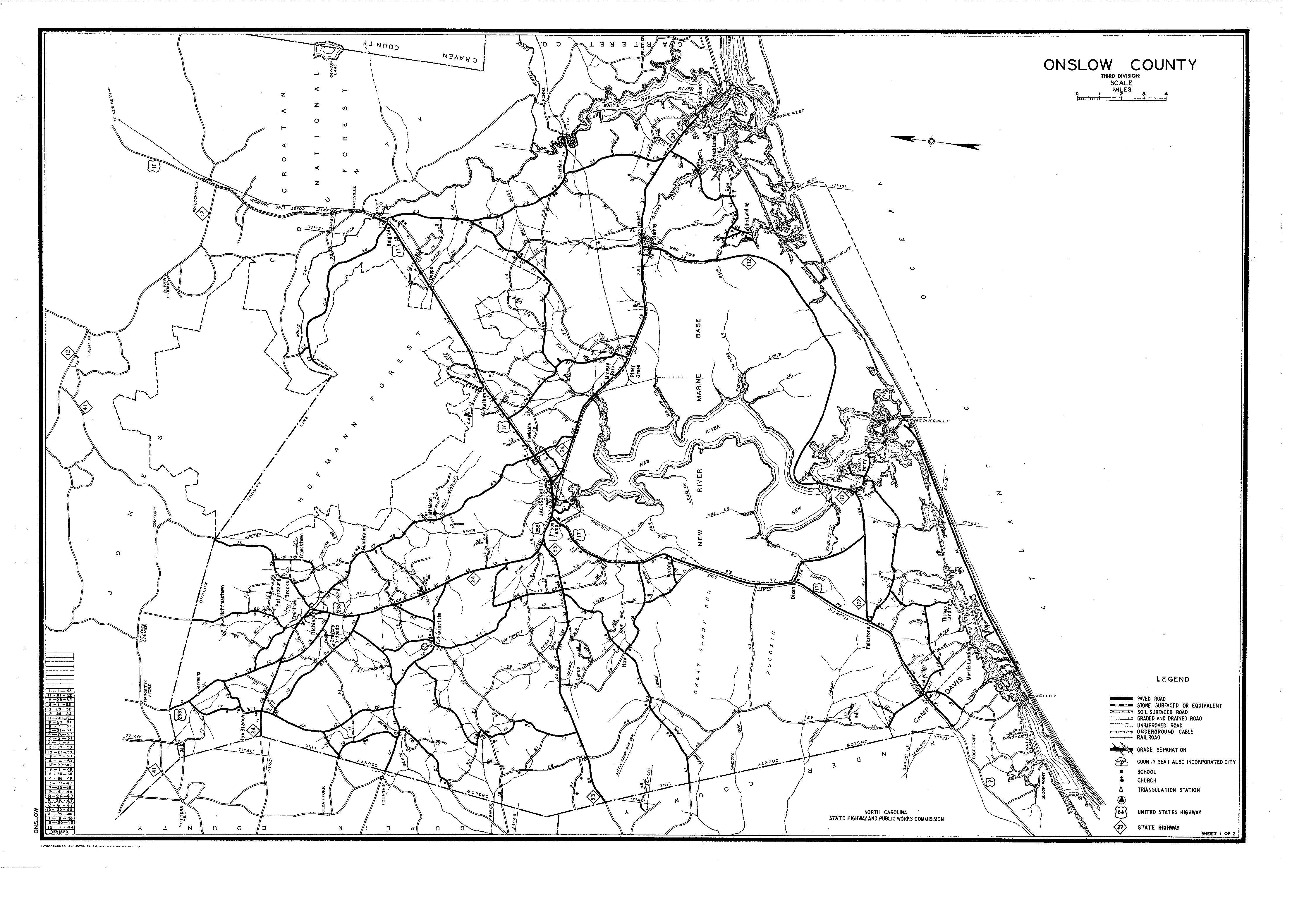1953 County Highway Map